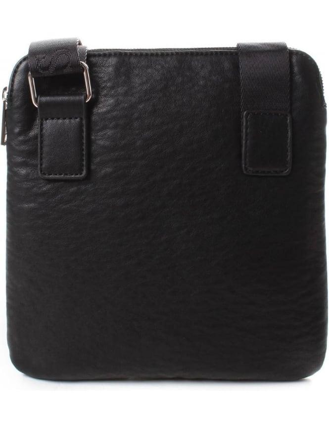 5dd6519ca190 Armani Jeans 932040 Men s Flat Crossbody Bag Black
