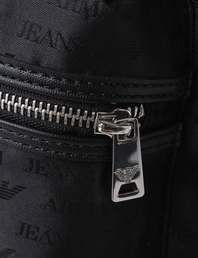 998b1eba9f47 Armani Jeans 932523 Men s Repeat Logo Backpack Black