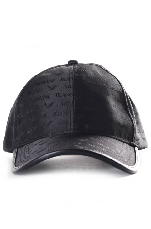 934500 Men's Repeat Logo Baseball Cap Black