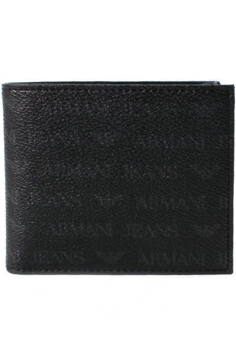 938540 Men's Repeat Logo Coin Holder Wallet Black