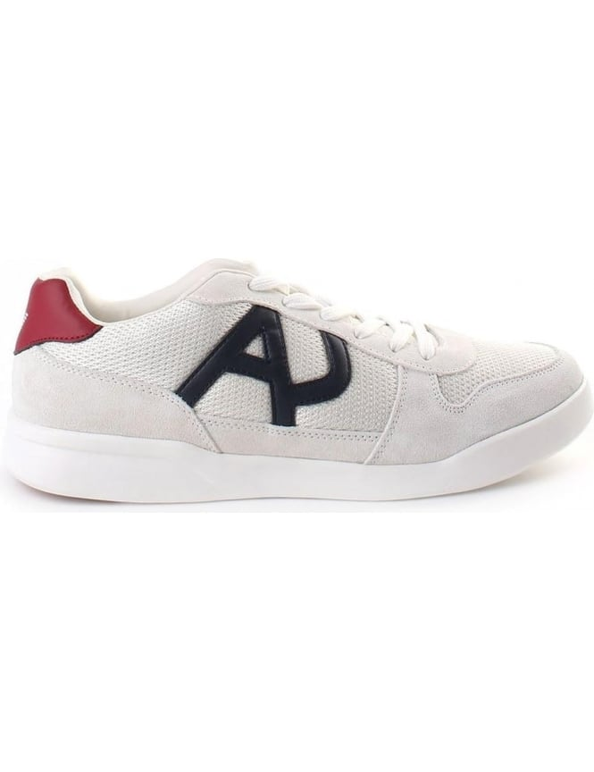 Armani Jeans 'AJ' Logo Unisex Lace Up Trainer
