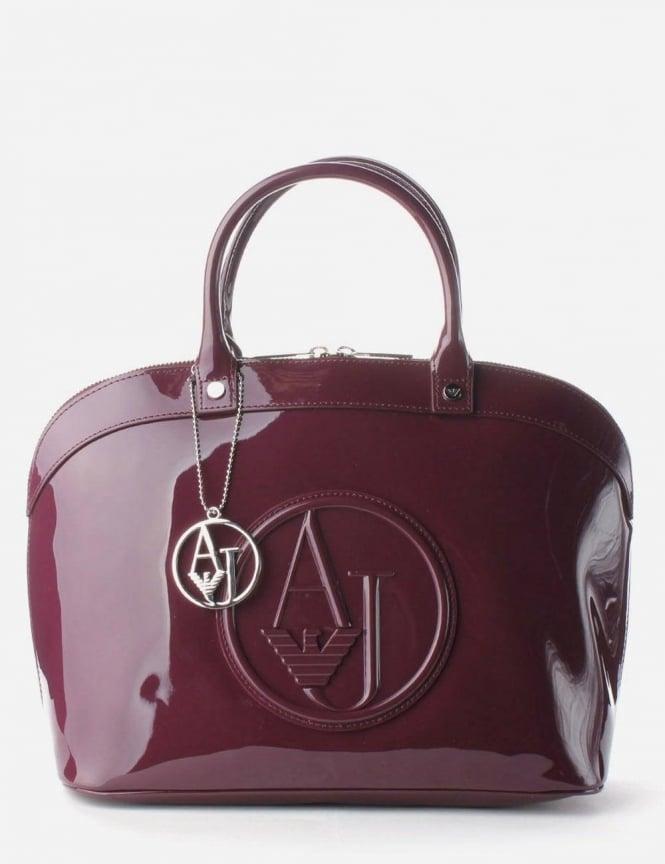 700477f89c71 Armani Jeans  AJ  Logo Women s Bowling Bag Purple