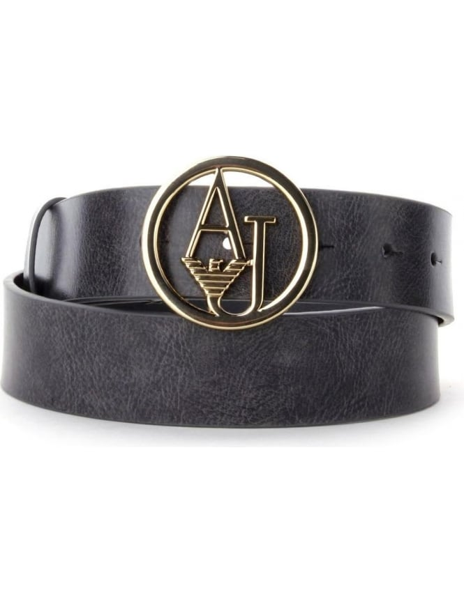 AJ Logo Women s Buckle Belt Black 997552b47c