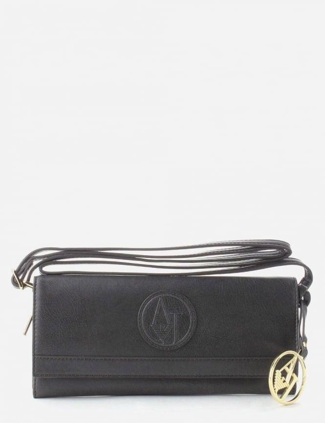 popular brand look good shoes sale timeless design Armani Jeans 'AJ' Logo Women's Clutch Bag Black