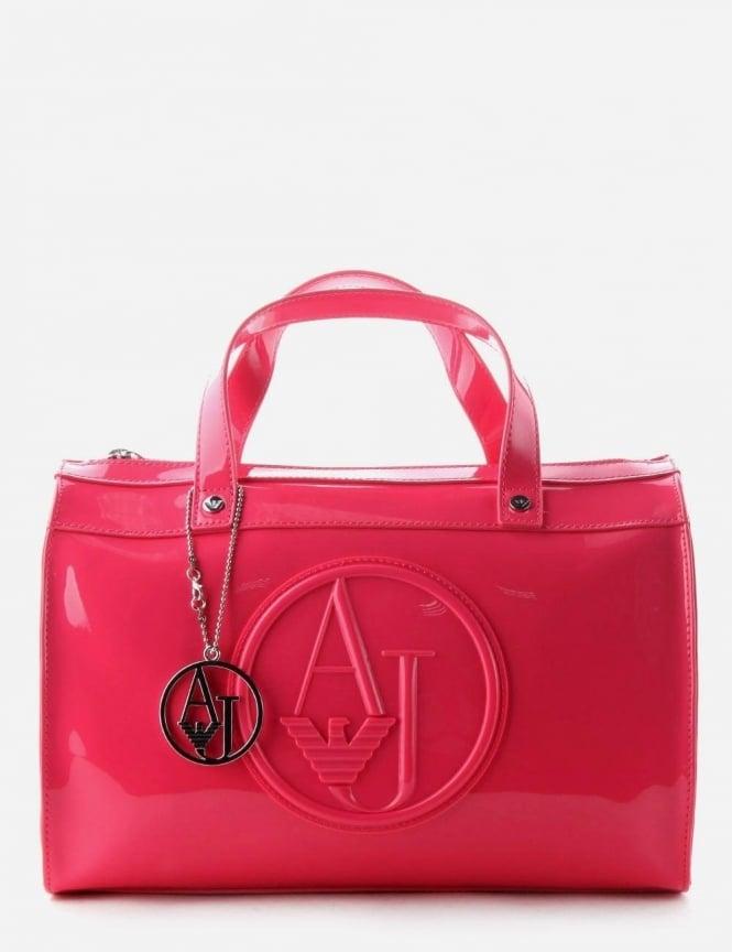 b3f2599883 Armani Jeans 'AJ' Logo Women's Patent Bag Pink