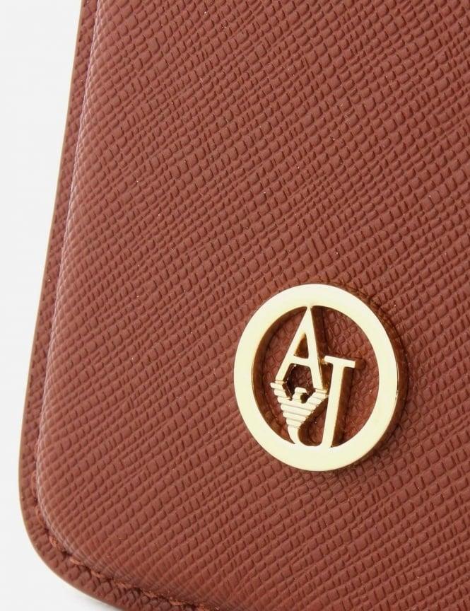 b4dcbe7d5a Armani Jeans 'AJ' Logo Women's Phone Case Brown