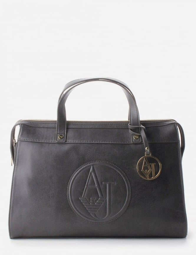 839de457a020 Armani Jeans  AJ  Logo Women s Top Handle Bag Black