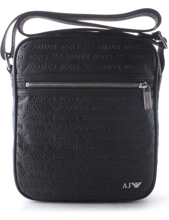 Armani Jeans  AJ  Men s Messenger Bag Black 8a97b72069a36
