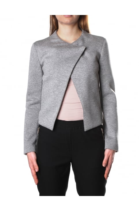 Asymmetric Women's Chest Fastening Jacket