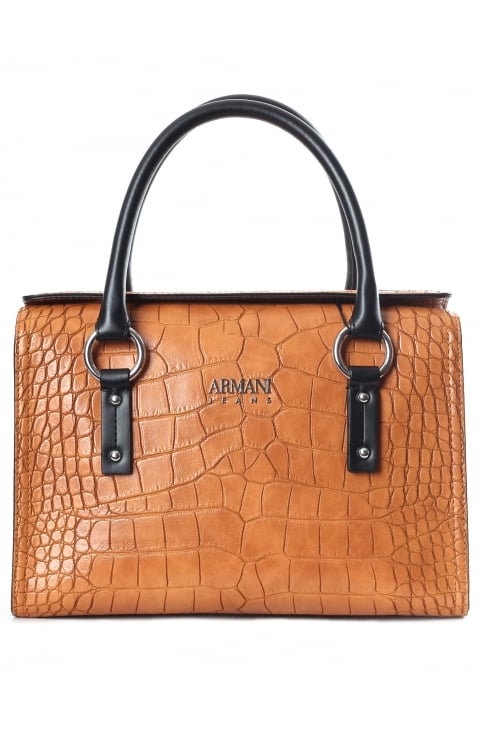 Bauletto Croc Women's Snap Top Tote