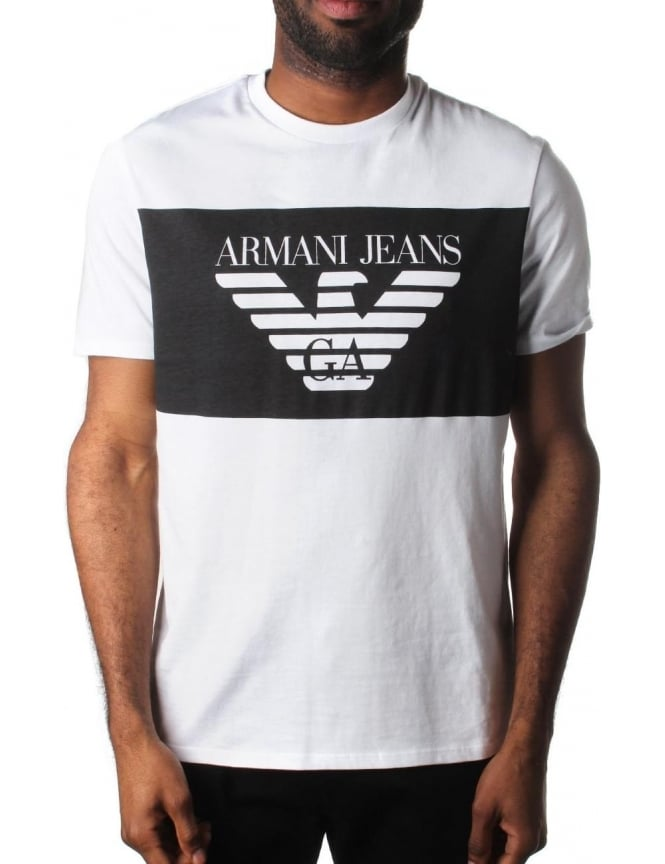 Armani Jeans Block Logo Men s T-Shirt 9e045cd71