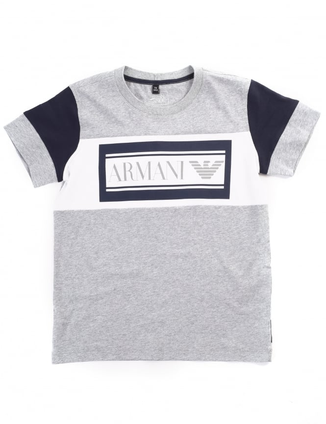 Armani Jeans Boys Crew Neck Short Sleeve Tee