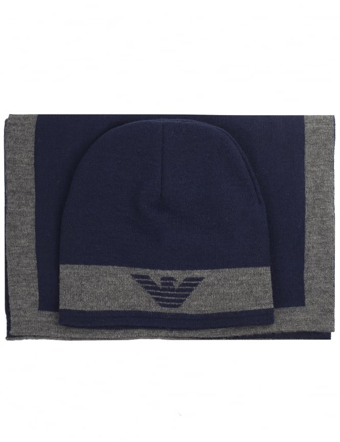 Armani Jeans Boys Hat & Scarf Set
