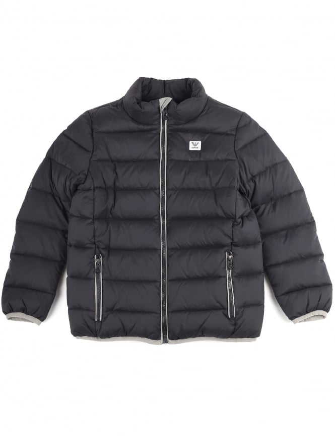 Armani Jeans Boys Zip Through Quilted Jacket