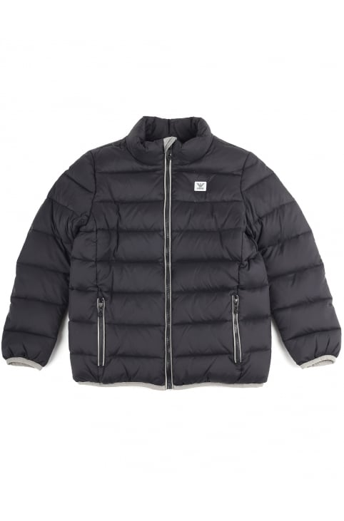 Boys Zip Through Quilted Jacket