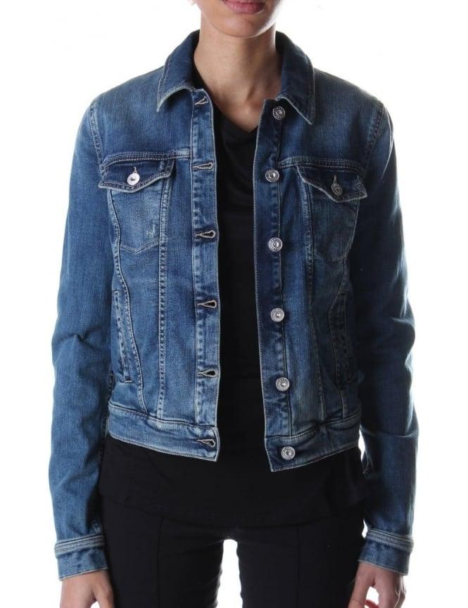 a894af096c Armani Jeans Button Through Women s Jacket Denim