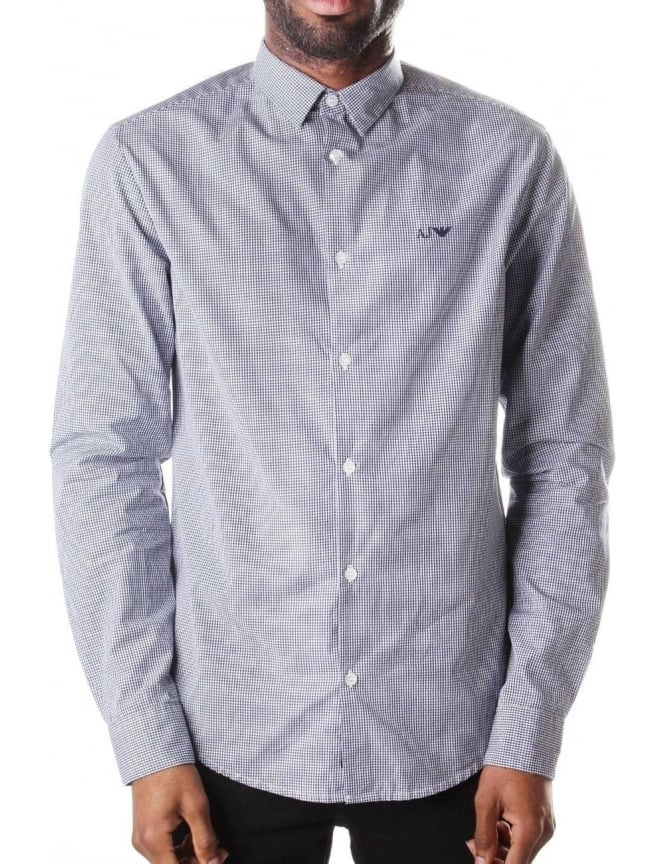 Armani Jeans Check Men's Long Sleeve Shirt