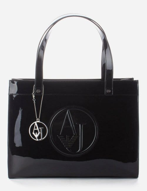 f90ce767ad14 Circle   39 AJ  39  Logo Patent bag Black