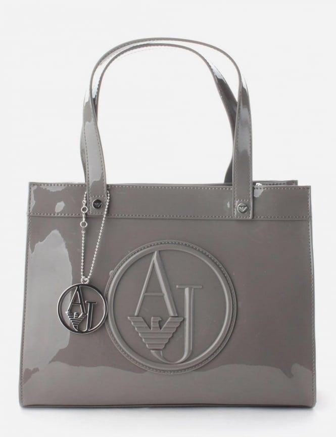 Circle Logo Women  039 s Patent Bag Grey 2164a3b9a14fe