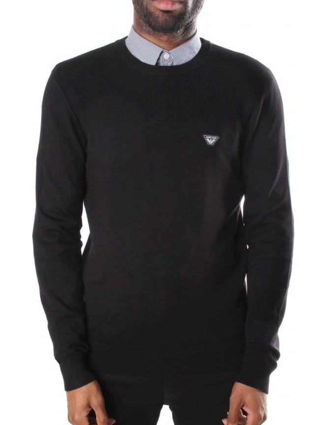 Armani Jeans Crew Neck Men's Pullover Knit