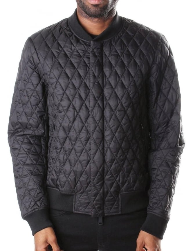 Armani Jeans Diamond Quilted Men's Zip Through Jacket