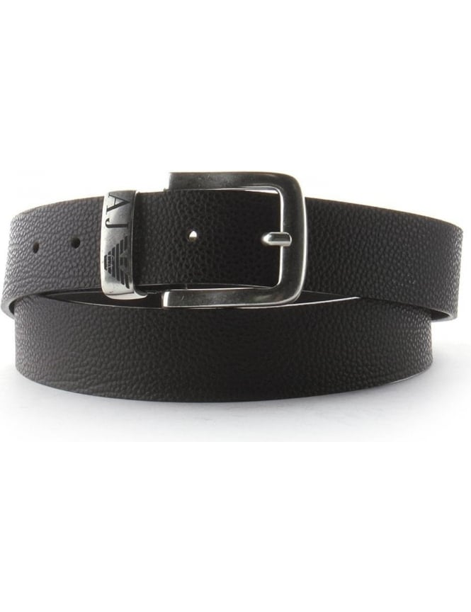 Armani Jeans Eagle Logo Men's Buckle Belt Brown
