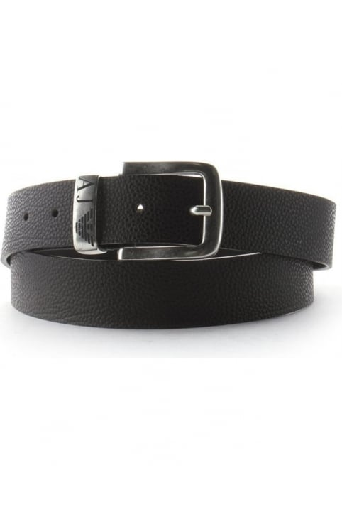 Eagle Logo Men's Buckle Belt Brown