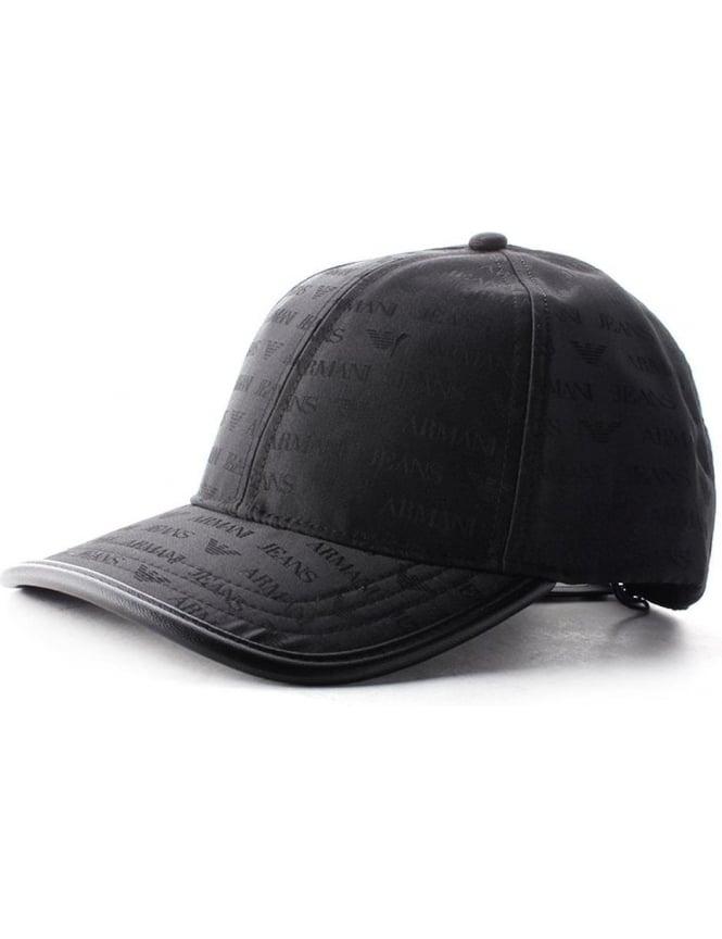 05977967fdd2f Armani Jeans Eagle Logo Men s Cap Black