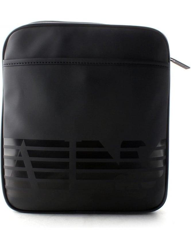 4709389de3 Armani Jeans Eagle Logo Men s Crossbody Bag Black