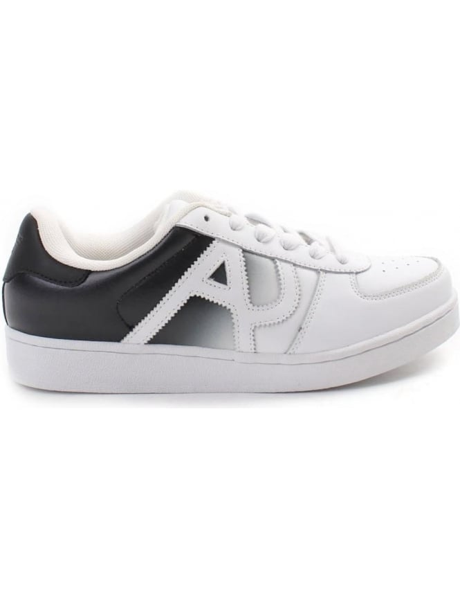 Armani Jeans Fade Out Men's Lace Up Trainer White