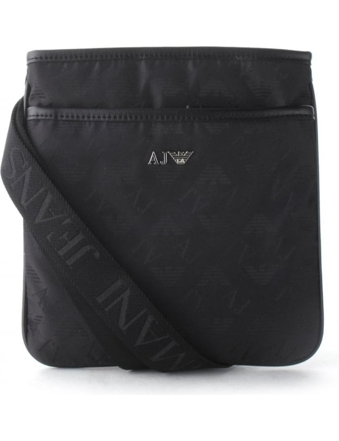 Armani Jeans Flat Men s Crossbody Bag Black 17df434d45e
