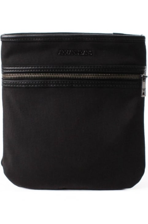 Flat Men's Crossbody Bag Black