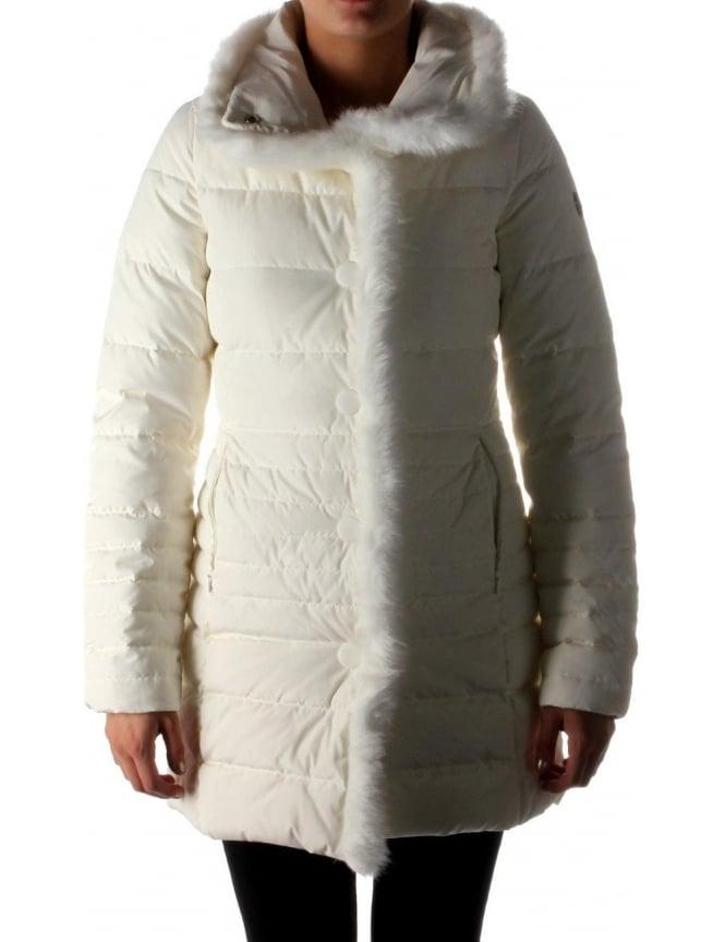 e9289453 Armani Jeans Fur Trim Women's Hood Quilted Jacket