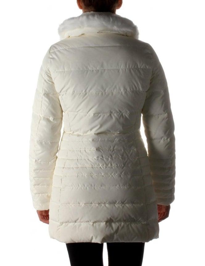 937481390ba0 Armani Jeans Fur Trim Women s Hood Quilted Jacket