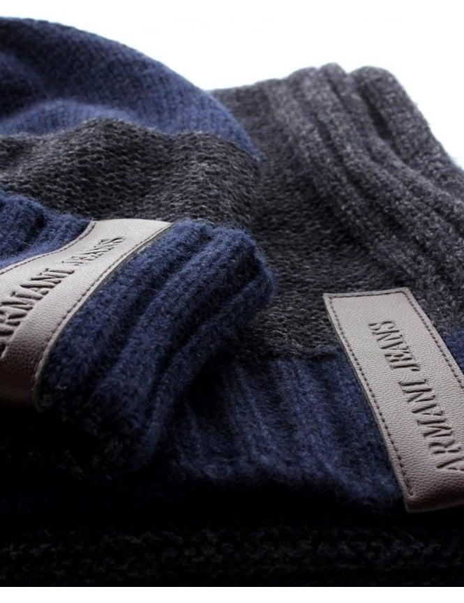 a089bf712bd ... Scarf Set Blue. Knitted Men  039 s Hat  amp  ...