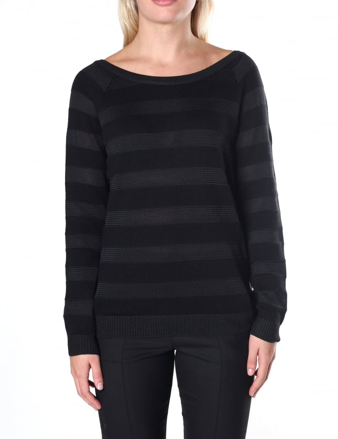 Armani Jeans Long Sleeve Women's Strappy Knit