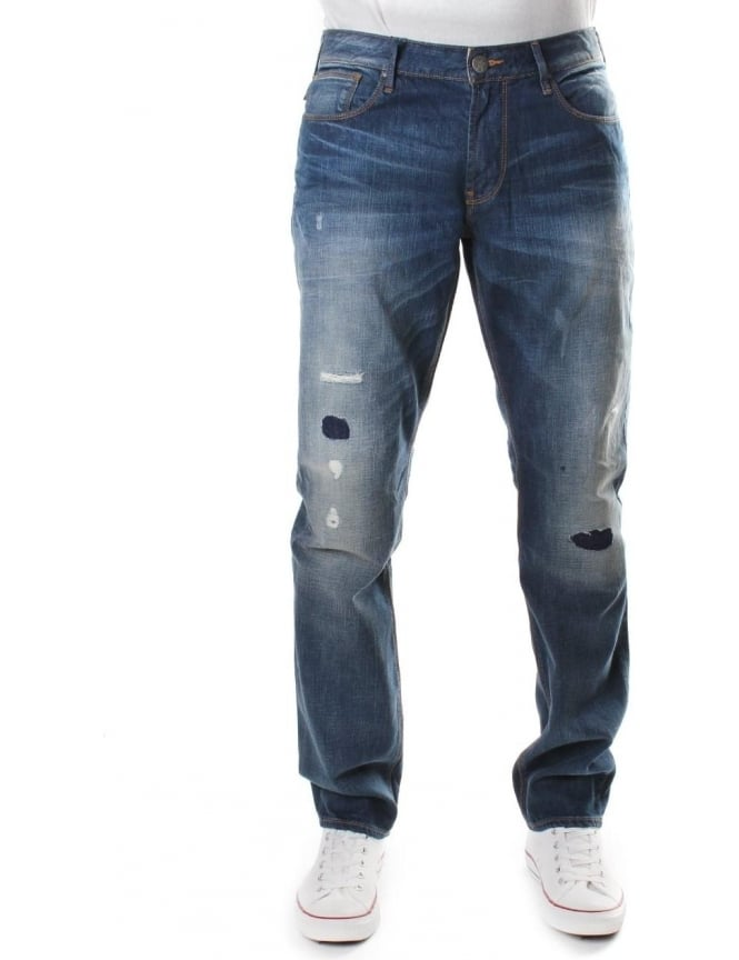 Armani Jeans Low Waist Men's Tight Leg Jeans Denim