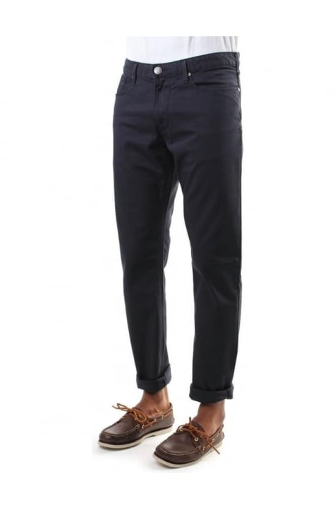 Low Waist Tight Leg Men's Chino Blue