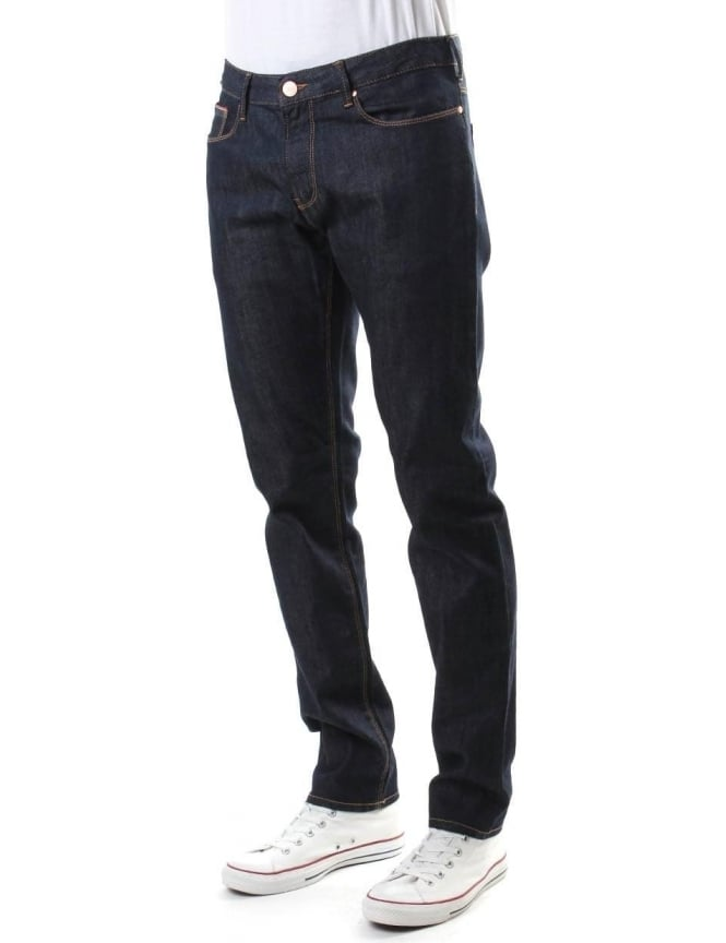 Armani Jeans Low Waist Tight Leg Men's Jean Blue