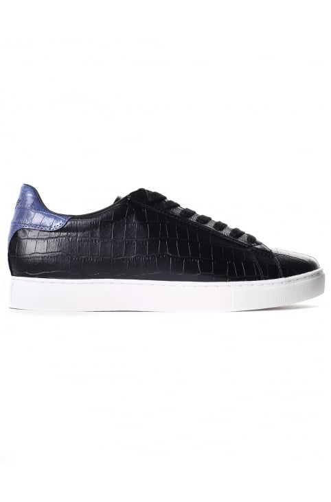 Men's Croc Embossed Lace Up Trainer