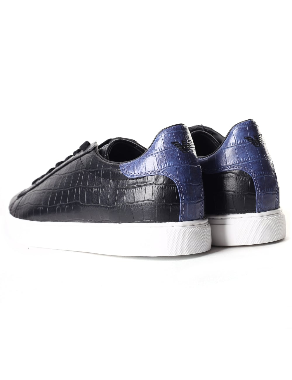 6441580240b Armani Jeans Men s Croc Embossed Lace Up Trainer
