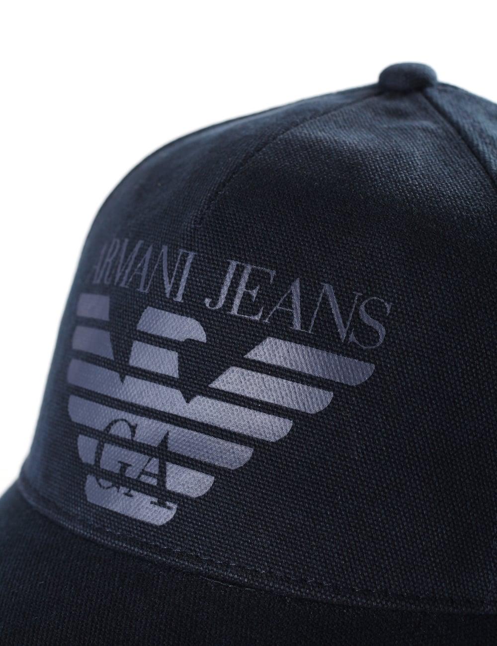 Armani Jeans Men s Eagle Logo Baseball Cap 3f7828e90e34