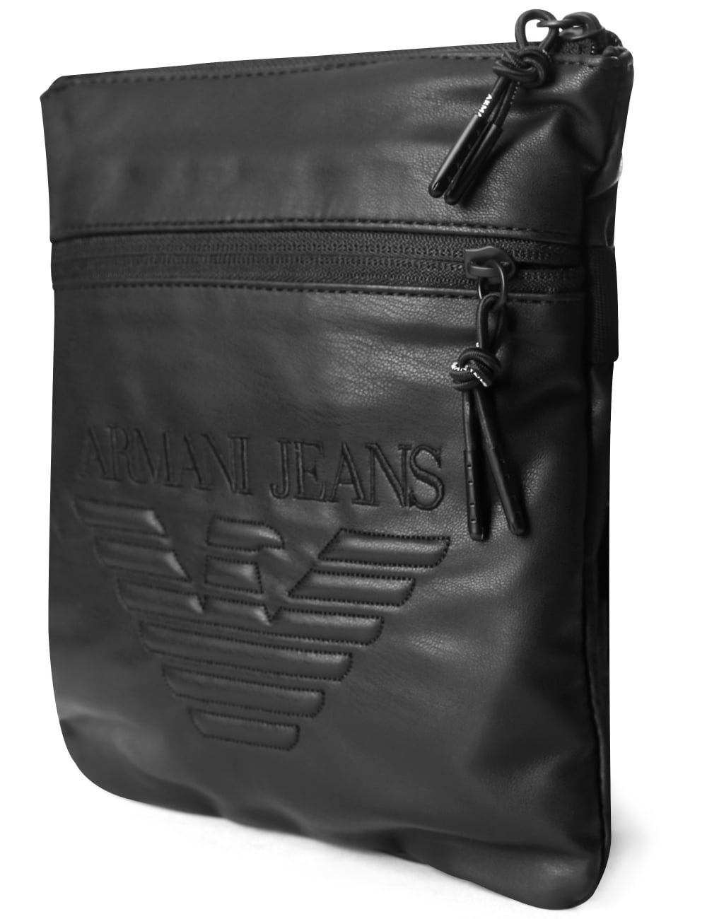 2228f37880 Armani Jeans Men s Eagle Logo Messenger Bag