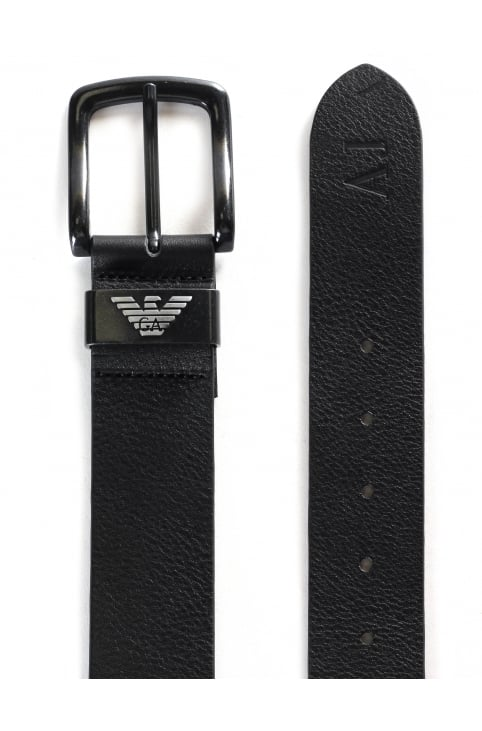 Men's Leather Metal Buckle Belt