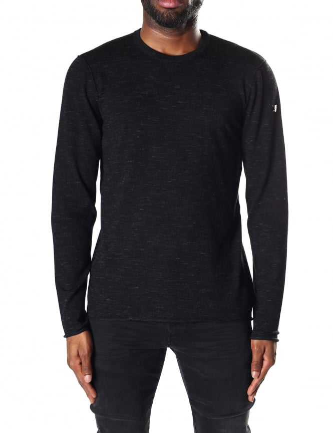 Armani Jeans Men's Long Sleeve Crew Neck Pullover Knit