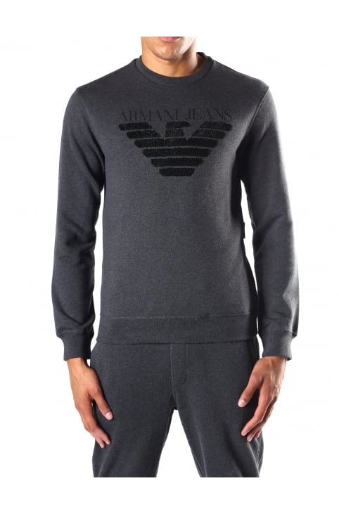 Men's Terry Logo Crew Neck Sweat Top