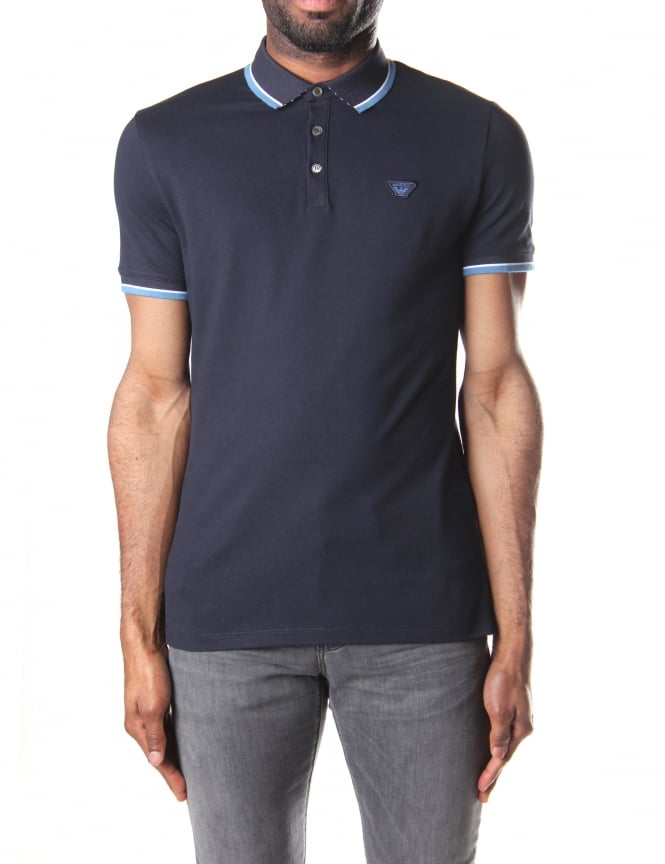 4af2ed79 Armani Jeans Men's Tipped Short Sleeve Polo Top