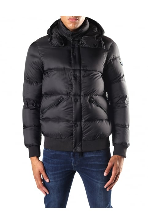 Men's Zip Through Hooded Puffa Jacket