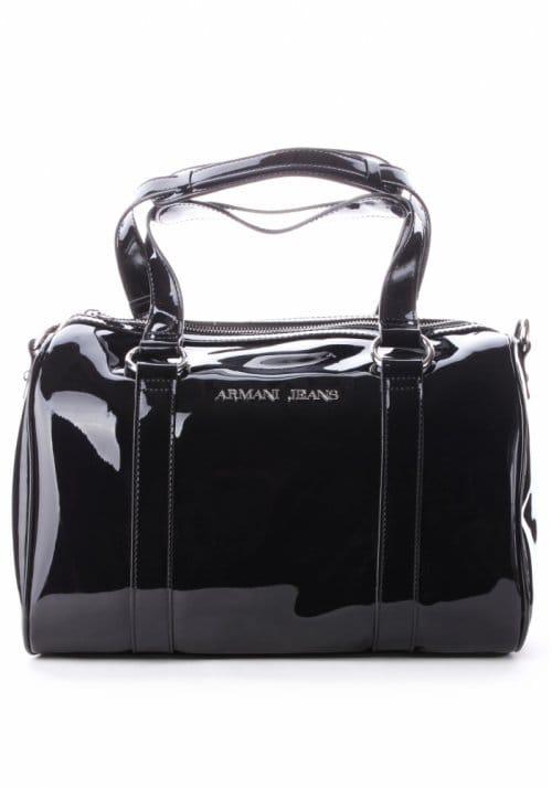 661d136da620 Armani Jeans Patent Women s Bowling Bag Black