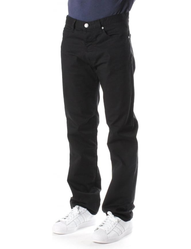 Armani Jeans Regular Waist Men's Straight Leg Jean Black